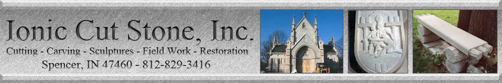 Ionic Cut Stone-Indiana Limestone Sculpting and Restoration