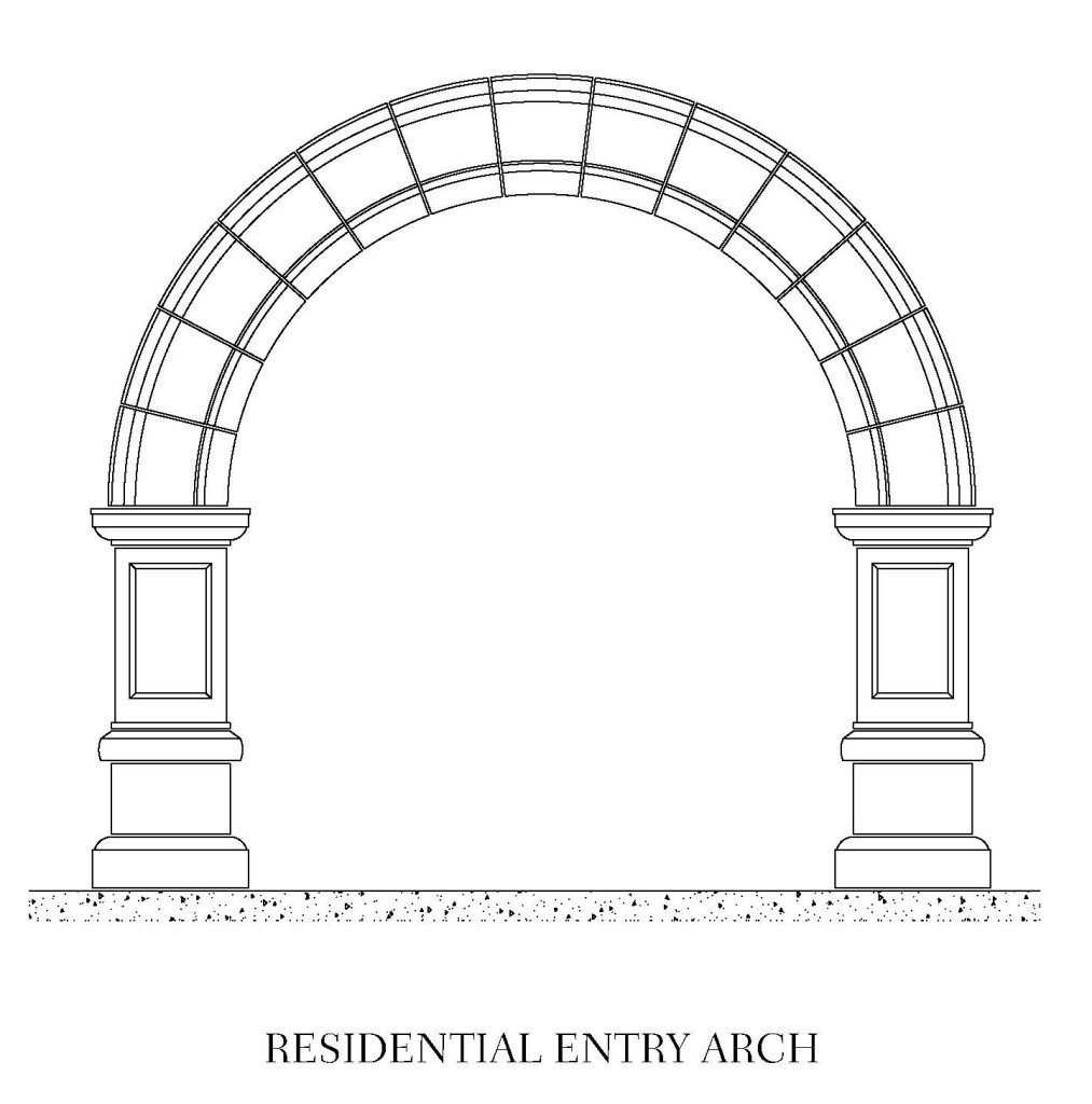 Residential Entry Arch