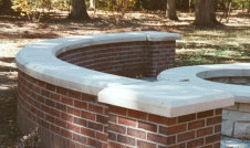 indiana limestone wall cap on masonry