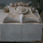 Ionic Cut Stone-Decorative Limestone Shield