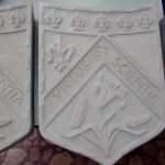 Ionic Cut Stone-Decorative Shield