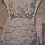 Ionic Cut Stone-Limestone Pineapple