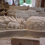 Ionic Cut Stone-Limestone Pineapples