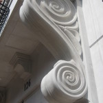 Ionic Cut Stone-Scroll Installed